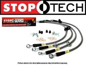 STOPTECH REAR SET BRAKE LINES 92-00 LEXUS SC300 SC400 5/1993-98 SUPRA TURBO& N/T