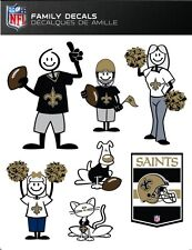 NFL NEW ORLEANS SAINTS FAMILY DECALS ~ FULL COLOR VINYL DECALS