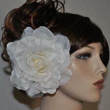 rose fleurs en tissu ivoire blanc broche épingle Fascinator Parure pour cheveux
