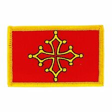 Toppe Toppa PATCH OCCITANO 7x4,5cm Bandiera banderina ricamata termoadesivo