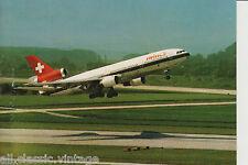 Postcard 33 - Plane/Aviation DC-10-30 TriJet Swissair