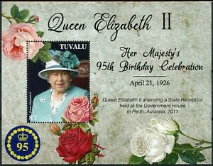 Tuvalu 2021 MNH Royalty Stamps Queen Elizabeth II 95th Birthday 1v S/S