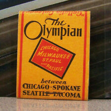Vintage Matchbook G4 Circa 1940 Seattle Washington Tacoma Olympian Chicago