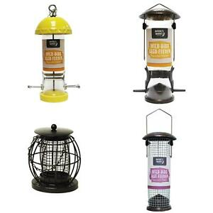 Metal or Ceramic Caged Hanging Lantern Bird Nut Feeder Station Hammertone Finish