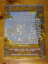 SOUNDWAVE 2010  Australian Tour - MY CHEMICAL ROMANCE ETC Laminated Promo Poster