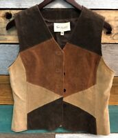 Women's Two by Vince Camuto Medium Brown Leather Vest