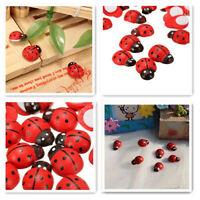 100x Mini Self Adhesive Stick On Ladybird Lady Bugs Craft Party DIY Sticker Red