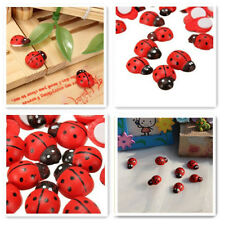 100x Mini Self Adhesive Stick On Ladybird Lady Bugs Craft Party DIY Sticker Red
