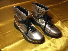 Men's Alejandro Ingelmo Metallic High Top Leather Sneakers Size 8.5 ( Italy 42)