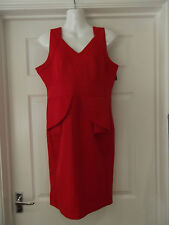 Women's Size XL MIUSOL Dress NWT in Red Peplum Stretch/Bodycon/Fitted Wear