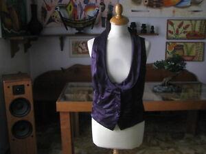 Splendido GILET  blu collection  taglia XL  colore viola  -