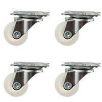 1-4x Universal Caster Castor Wheel PP/Nylon Wheel Double Ball Bearing Head 10Kg
