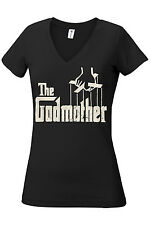 THE GODMOTHER T-SHIRT ASSORTED COLORS ADULT/WOMEN/V-NECK/LONG SLEEVE SIZES S-5XL