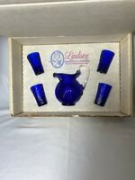 Mosser Glass Lindsey Cobalt Blue Child's Water Set A Collection For Today's Girl