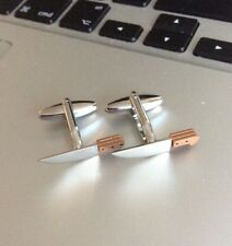 FREE GIFT BAG Mens Silver Chef Cook Knives Knife Cufflinks Cuff Links Jewellery