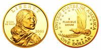 2005 S Sacagawea Gem Proof Dollar $20 US Coins Roll