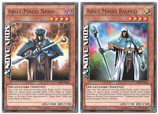 Abile Mago Nero + Bianco ☻ Comune ☻ SDMY IT021 IT022 ☻ YUGIOH ANDYCARDS
