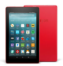 "Amazon Fire 7 Tablet With Alexa 7"" Display 8gb Punch Red 7th Generation"