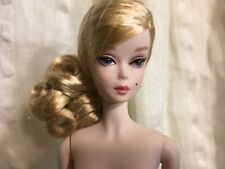 NUDE BARBIE BLUSH & GOLD COCKTAIL DRESS SILKSTONE DOLL ONLY, NEWLY DEBOXED