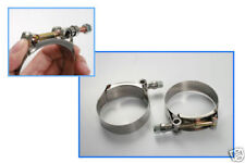 T-Bolt Stainless Clamps For Car Hose Pipe Plumbing 1.7-1.9inch / 43-49mm 2pcs