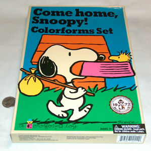 Peanuts SNOOPY Come Home Colorforms Charlie Brown 2017 Repro of Vintage 1972 Set
