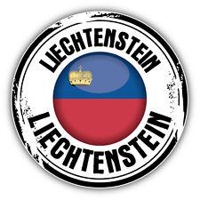 Liechtenstein Flag Grunge Rubber Stamp Car Bumper Sticker Decal 5'' x 5''