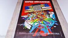 ENFER MECANIQUE  !  affiche cinema cars , voiture  vintage 1977