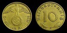 Germany / Third Reich - 10 Reichspfennig 1936 E ~ swastika