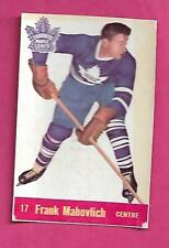 1957-58 PARKHURST LEAFS FRANK MAHOVLICH ROOKIE  GLUE CARD (INV# C1025)