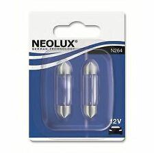 12v 10w Sv8.5-8d 11 X 44mm (X2) N264-02B Neolux Genuine Top Quality Product New