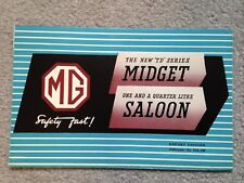 MG TD & YA Dealer Sales Brochure - Original - 1950 - Near Mint / Mint Condition