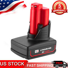 For Milwaukee M12 48-11-2460 LITHIUM 48-11-2412 XC 6.0 Extend Cordless Battery