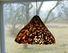 Lamp shade pendant handmade natural cattail heads fluff bell shaped eco-friendly