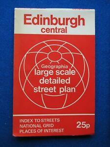 Geographia  Street Map & Street Index - Edinburgh ( Central )    c1976
