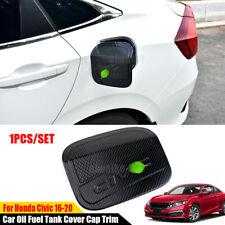 Carbon Fiber Hq Car Oil Fuel Tank Cover Cap Trim For Honda Civic 10th 2016-2021