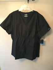 Womens  Cherokees Flexibles Modern Comfort Black Top Size XL NWT