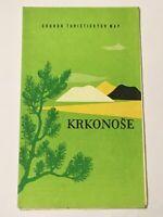 KRKONOSE Riesengebirge - alte Landkarte MAP CSSR Sudeten 1:100 000 - 1964