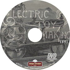 1891 Electric Toy Making { Antique How To Book ~ School Projects } on DVD