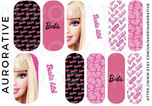 Barbie Nail Art Waterslide Decals