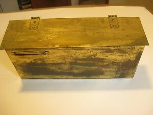 VINTAGE ALL BRASS HORIZONTAL WALL MOUNT MAILBOX