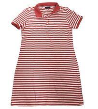 Tommy Hilfiger Striped Sleeveless Preppy Polo Shirt Dress Pink Stripe Size M