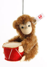 "SAVE $35! Steiff JOCKO MONKEY ORNAMENT w/Drum 3"" Mohair 2018 LtdEd 006340 NEW!"