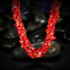 Luxurious Red Coral Bead Band Chain Choker Women Necklace 4 Shirt Sweater