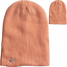 Fox Racing Womens Reborn Reversible Slouch Beanie Hat Cap Orange Sherbet  Girls 1cef9d6b5122