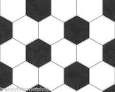 Borte Bordüre schwarz weiß Fußball Papier Tischdecke Bierzeltgarnitur 94420-1