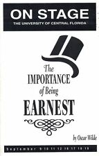 UCF ON STAGE Univer of Central FL THE IMPORTANCE OF BEING EARNEST Sept 1999