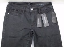 BEBE Women's Denim Distressed Black Heartbreaker Skinny Jeans Size 30 New w Tags