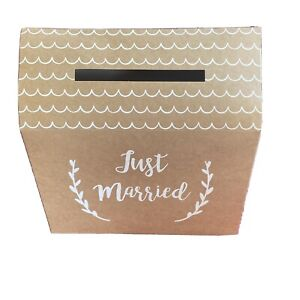 Just Married Wedding Card Post Box For Reception Gifts