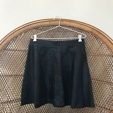 H&M Black Pleather Skater Skirt Size 10 Womens Skirt