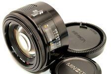 Excellent+++++ Minolta AF 50mm f/1.4 Standard Portrait Lens Cap for Sony A Japan
